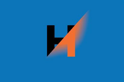 Visitekaartje blauw-oranje