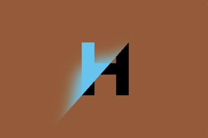 Visitekaartje bruin-blauw