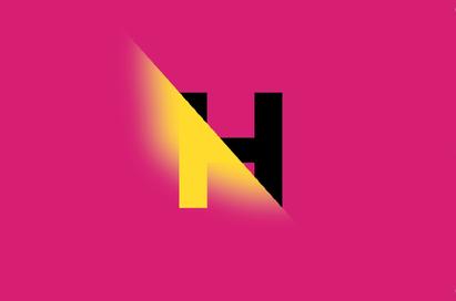 Visitekaartje roze-geel