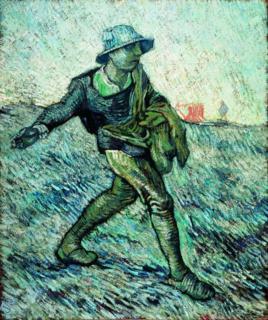 Vincent van Gogh, De zaaier (naar Millet)